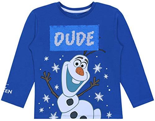 Olaf Frozen Disney blauwe blouse met pailletten