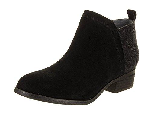 TOMS - Femme Deia Suede Bootie, 36.5 EUR, Black/Blk Suede/Wool