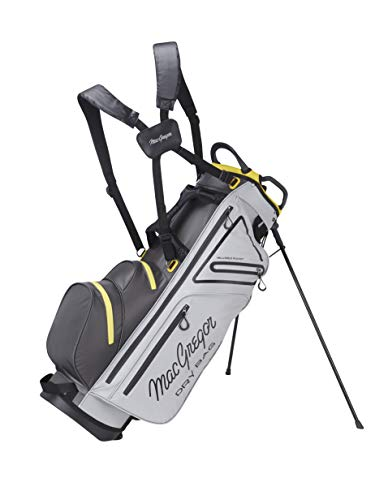 MACGREGOR MACBAG130 Golf Club Stand Bag, Unisex-Adult, Silver/Charcoal, One Size