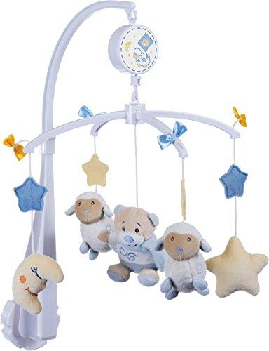 BIECO Musik Mobile Baby, Design: Bärchen Peti | Ø 33 cm, Höhe 55 cm | Baby Einschlafhilfe, Spieluhr Baby | Babybett Spielzeug | Mobile Baby Musik | Baby Toys 0-6 Months | Spielt die Melodie LaLeLu