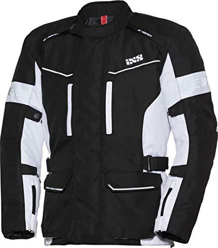 IXS Evans de St Hombre Motocicleta textil Chaqueta Touring–Blanco y Negro