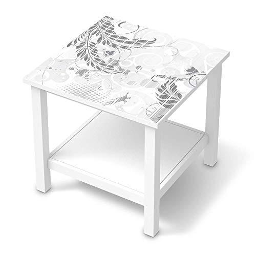 creatisto Möbeltattoo passend für IKEA Hemnes Beistelltisch 55x55 cm I Möbelaufkleber - Möbel-Folie Tattoo Sticker I Wohn Deko Ideen für Esszimmer, Wohnzimmer - Design: Florals Plain 2