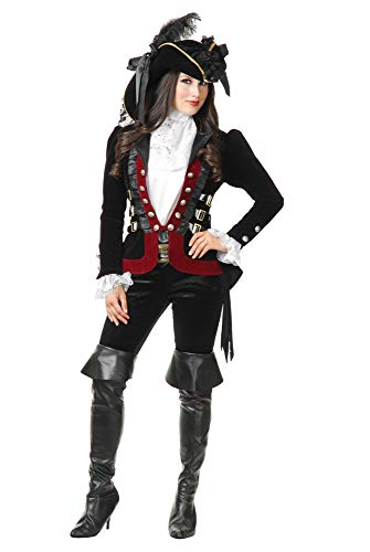Charades Sultry Pirate - Chamarra para Mujer (Talla M), Color Negro