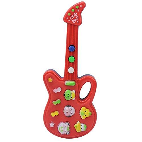 Mini Guitare Instrument à Corde Jouet Musical Cadeau pour Enfant 19 * 7.5 * 2cm
