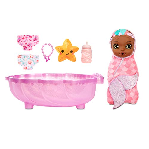 Baby Born Surprise Mermaid Surprise - Baby Doll with Pink Towel and 20+ Surprises, Multicolored
