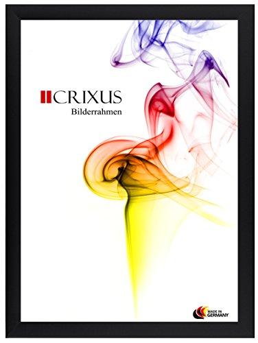 CRIXUS Crixus35 Bilderrahmen für 50 x 110 cm Bilder, Farbe: Schwarz-Matt, mit Acryl Kunstglas (Bruchsicher), Aussenmaß: 55,6 x 115,6 cm
