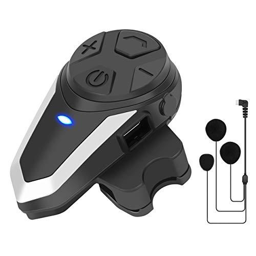 BT-S3 Intercomunicador Moto Bluetooth, Manos Libres Auriculares Casco Moto para 2-3 Motocicletas, con Microfono Blando