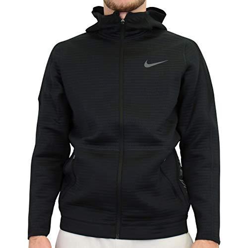 NIKE HD Full Zip NPC Sweatshirt Sudadera, Hombre, Negro/Negro/Gris, Medium