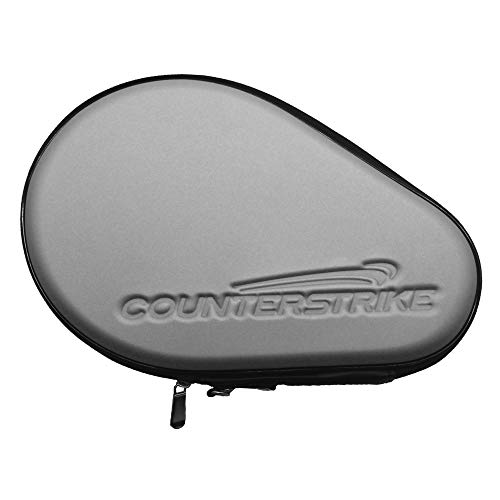 Ping Pong Paddle Case | Table Tennis Paddle Hard Case | Table Tennis Racket Case | Hard Shell | Water Resistant | Silver...