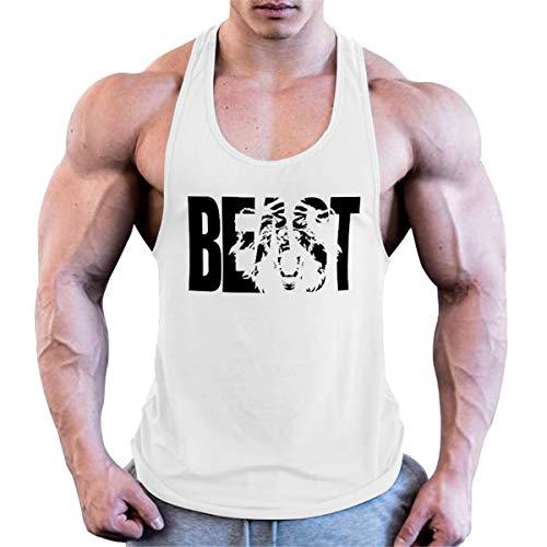 Cabeen Hombres Gym Camiseta de Tirantes sin Manga Fitness Gimnasio Stringer