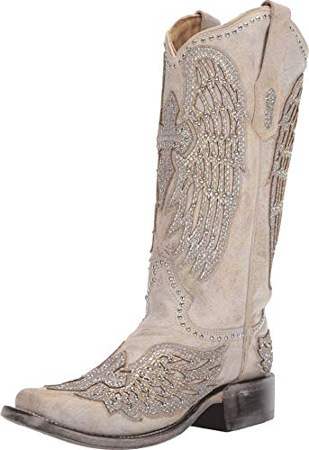 Corral Boots A3731 White 8 B (M)