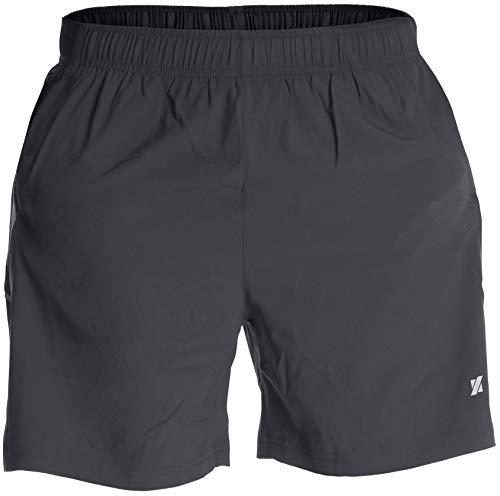 Fort Isle Men's Running Shorts - L - Gray - Quick Dry Breathable - Gym, Workout, Yoga, Training