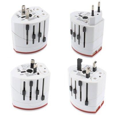 Plug Socket Adattatore a Spina LLD, Adattatore per Viaggi Mondiale 2 e Caricabatterie USB .Caricabatterie USB della Presa Plug