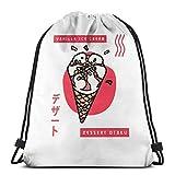 Almost-Okay-Shop Vinilla Ice Cream Dert Otaku - Bolsa deportiva con cordón, bolsa de viaje