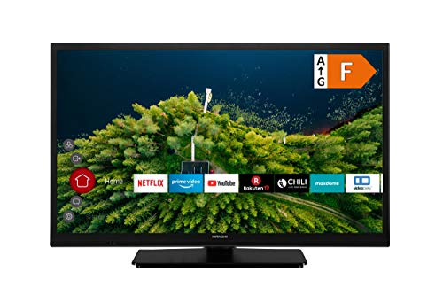HITACHI H24E2100 60 cm (24 Zoll) Fernseher (HD Ready, Smart TV, Prime Video, Works with Alexa, Triple-Tuner, PVR)