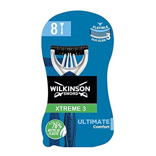 Wilkinson Xtreme 3 Ultimate Plus - Paquete de 8 cuchillas de afeitar desechables