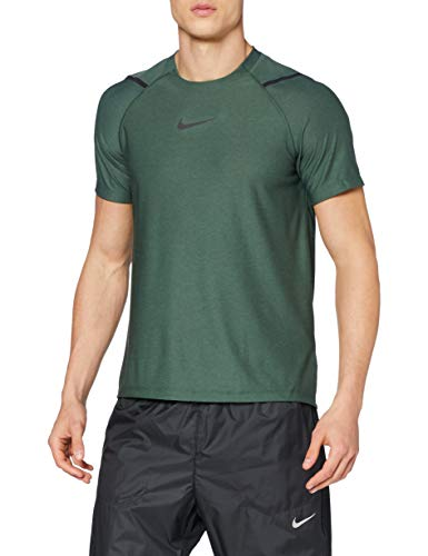 Nike Herren Pro Top NPC T-Shirt, Galactic Jade/Htr/Black, M