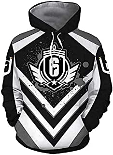 "3D printing"" Rainbow Six Siege"" popular game hoodie/sweatshirt long-sleeved fleece clothing men and women hip hop tops (M)"