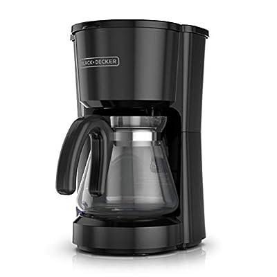 BLACK+DECKER CM0700B 5-Cup Coffee Maker, Compact Design