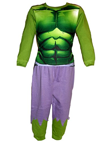 """Jungen-/Kinder-Kostüm, mit Superhelden-Design, auch als Schlafanzug geeignet Gr. 2/3 Jahre, Hulk """"Green"""""""