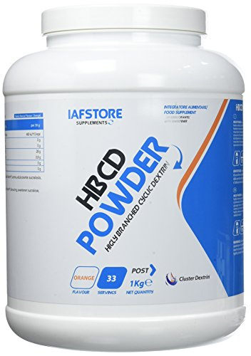 Iafstore Supplements HBCD Powder Integratore Alimentare di Carboidrati con Ciclodestrine, Arancia - 1000 g
