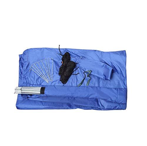 F-S-B Camping Tarp Shelter, 100% wasserdicht Leichte Hammock Regen Fly Portable für Angeln Strand-Picknick,Blau,6 * 4.4m2 Rod
