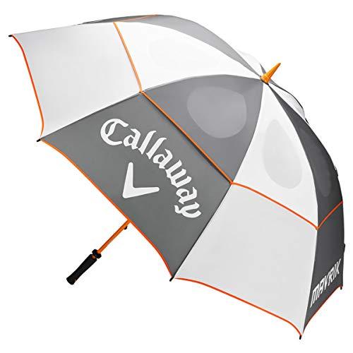 Callaway Mavrik Double Canopy Golf Umbrella - White/Charcoal/Orange - New 2020