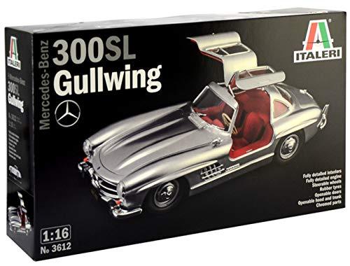 Italeri-3612 Mercedes Benz 300SL Gullwing Scala 1:16, modellismo, Model Kit, Automobili Modello...