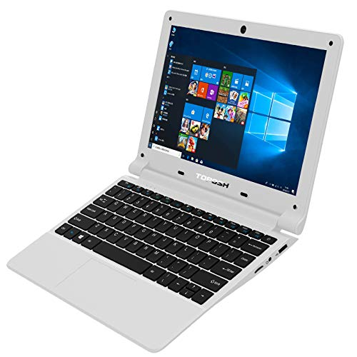 TOPOSH 11.6 Inch Laptop Windows 10 PC Notebook Computer 8GB RAM+128GB SSD Intel Celeron J3455 Quad Core 1.5GHz Processor Graphics with US Keyboard WIFI Bluetooth- White