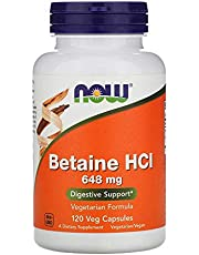 Now Foods, Betaine HCL, 648 mg, 120 Veg Capsules
