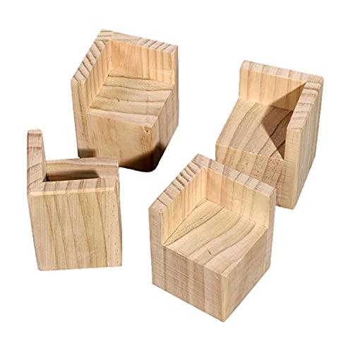 Almohadilla de elevación para Muebles de Madera Maciza, pies de elevación, Ievantador de Muebles Patas de Muebles de Elevador de Muebles Juego de 4 Piezas(Size:5cm/2.0in)