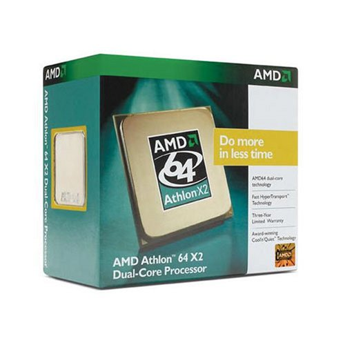 AMD Athlon 64 X2 6400+ Dual-Core Windsor Box CPU Athlon 64 3200 MHz Sockel AM2 1000 FSB 2 x 1024 KB F3 125 W
