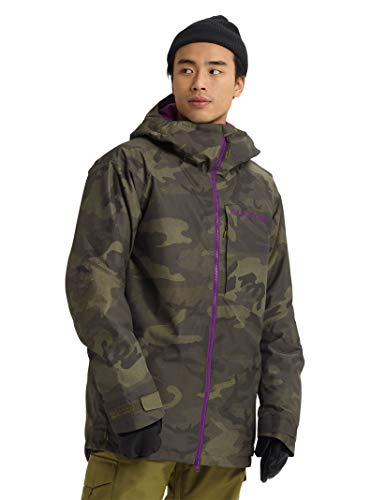 Burton Mens Gore-Tex Radial Shell Jacket, Worn Camo, Large