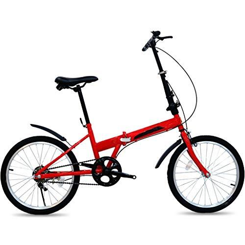 Zxb-shop Bicicleta Plegable Unisex Bicicleta Plegable de Bicicletas Plegables portátiles de Estudiantes Adultos de la Bicicleta Ultra-Light portátil Hombre Y Mujer Ciudad Riding (20 Pulgadas)