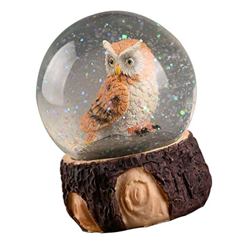 TOYANDONA Bola de nieve con diseño de búho nórdico, bola de nieve,...