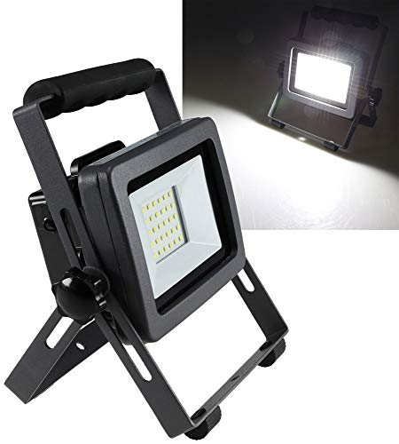 LED bouwlamp met accu '''BS-20 Pro'' 1800 lm, 6500K wit, 3,5h werkt op batterijen