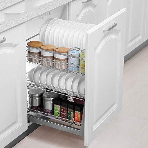Yxx@ Cocina Estante Cajón Telescópico Dormitorio Extensible Gabinete Estantes y Soportes Organizadores de Cajones para Cocina y Despensa Cesta de condimentos