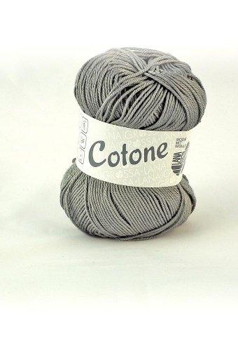 Lana Grossa Cotone 019 steel gray 50g Wolle