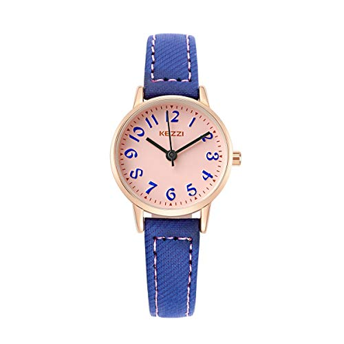 Xlin Reloj De Cinturón De Estudiante De Moda Número Compacto Número Casual Reloj De Niña Impermeable (Color : Green)