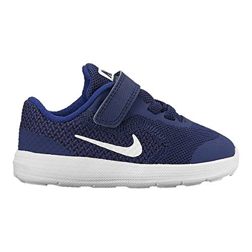 NIKE Kids' Revolution 3 (TDV) Running Shoe, Binary Blue/White/Deep Royal Blue, 2 M US Infant