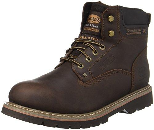 Dockers by Gerli Herren 23DA104 Combat Boots, Braun (Cafe 320), 44 EU