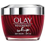 Olay Regenerist Whip - Crema de Día Ligera y Mate para el Rostro con Spf 30, 50 Mililitros