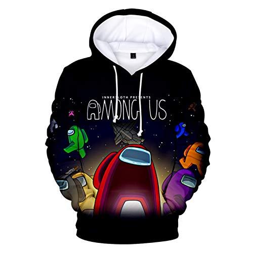 Among Us Hoodie Kinder Herren Damen 3D Spiel Sweatshirt Pulli Kapuzenpullover Langarm Casual Streetwear Pullover Mädchen Jungen