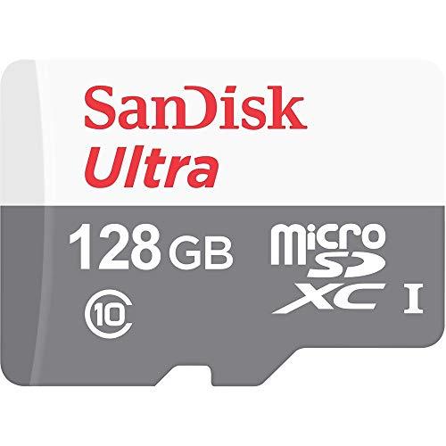 Cartão SanDisk Ultra 128GB 100MB/s UHS-I Classe 10 microSDXC SDSQUNR-128G-GN6MN