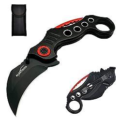 cheap ALBATROSS EDC Cool Spring Assist Tactical Sharp Raptor Claw Knife Folding Pocket Knife (Black)