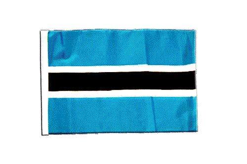 FlagSuperstore© Botswana-Bootsflagge, 45 x 30 cm – Baumhäuser, Wohnwagen – Ärmel 45 x 30 cm – Land