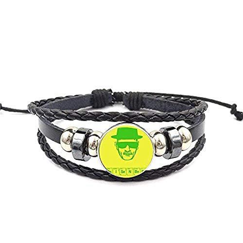 lianglimin Halskette Steampunk Schmuck Glas Cabochon Schwarzes Leder Armband Armreif Für Mädchen Männer Frauen Geschenk