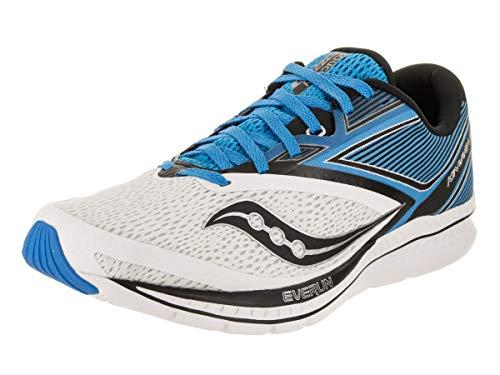 Saucony Men's Kinvara 9 Running Shoe, White/Blue, 7.5 Medium US