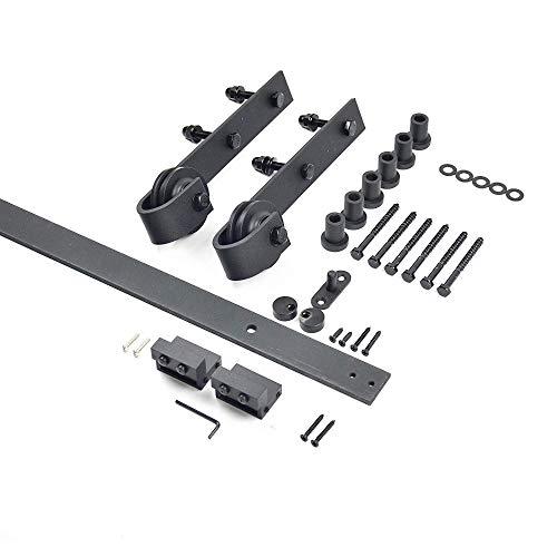 XAPTOVI 200cm Komplett-Set für Schiebetüren schiebetürsystem set. Für Holztüre Schiebetür Schiebetür schiebetürbeschlag set