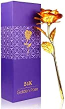 MSA JEWELS Lavanaya 24k Gold Plated Rose with Bud Vase -Aluminium Silver Certified (Plastic)